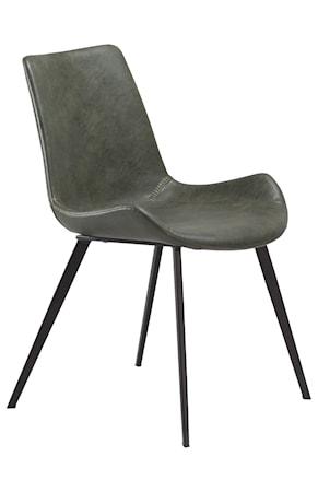 Dan Form Denmark Stol Hype Konstläder - Vintage Grön