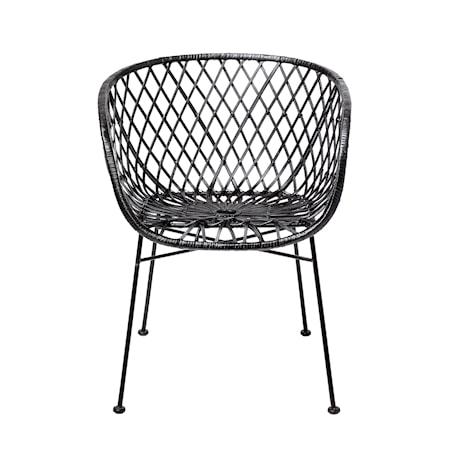 Bloomingville Lounge Chair, Black, Rattan