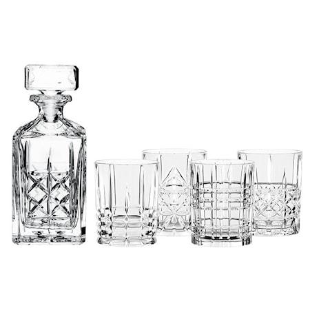 Nachtmann Highland Whiskeykarahvi ja 4 lasia