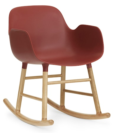 Normann Copenhagen Form rocking chair karmstol ek - Red