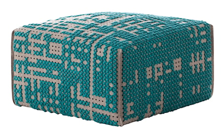 GAN Rugs Canevas Square Abstract Puff 60x60x35 - grön