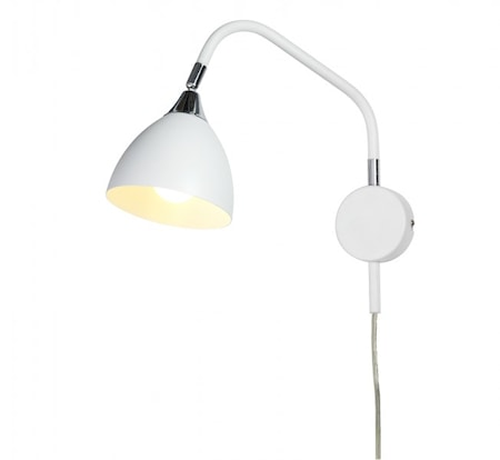 Bilde av Cottex Läza Wall Lamp White with Chrome details