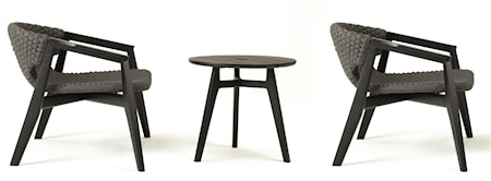 Ethimo Lounge grupp inkl. 2 stolar & bord