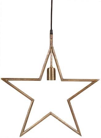 Tindra Hängande Stjärna Råmässing 45cm