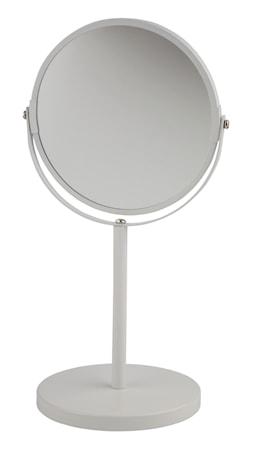 Galzone Bordspejl - Metal - Spejl - Hvid - Rund - D 15,0cm - H 35,0cm - Gaveæske - Stk. thumbnail