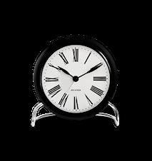 Arne Jacobsen Roman bordsur, svart/vit, Ø 11 cm, alarmfunktion
