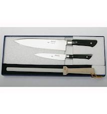 Presentförpackning 2 knivar & 1 bryne