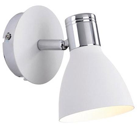 Bilde av Markslöjd Huseby Vegglampe 1 Lys Krom/Hvit