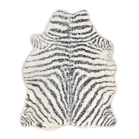 Badrumsmatta Zebra Svart/Vit 85x100 cm