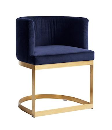 Nordal Lounge matbordsstol i sammet - Blå