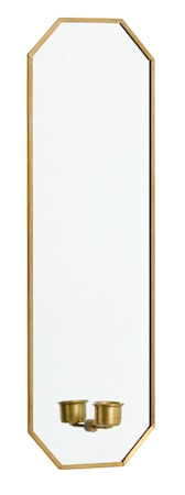 Nordal Spegel med ljusstake 38x13 cm - Guld