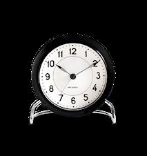 Arne Jacobsen Station bordsur, svart/vit, Ø 11 cm, alarmfunktion