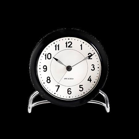 Rosendahl Arne Jacobsen Roman pöytäkello mustavalkoinen ø 11 cm, herätystoiminto