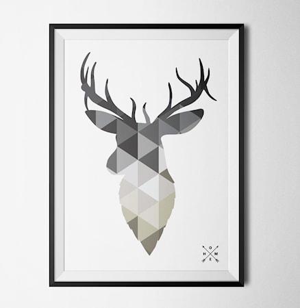 Bilde av Konstgaraget Nordic deer grey poster