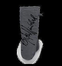 Grillhandske XL, grå/svart