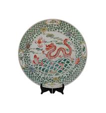 Fat, 46 cm, fisk och drake, Ming dynastin
