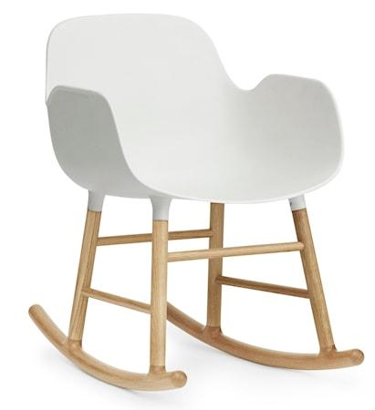 Normann Copenhagen Form rocking chair karmstol ek Vit