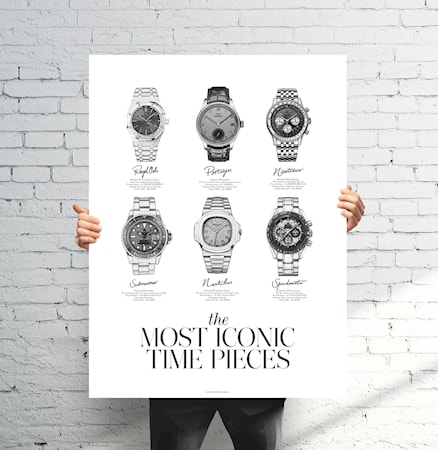 Bilde av Sealoe The most iconic time pieces poster