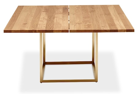 Dk3 Jewel table Oil oak, Raw brass 160 cm