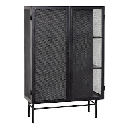 Hübsch Metallskåp 100x45xh150 cm - Svart