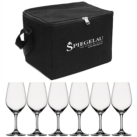 Spiegelau Expert Viinilasilaukku sis. 6 lasia musta