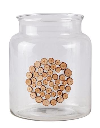 Bilde av KJ Collection Vase med mønster Natur 17 cm