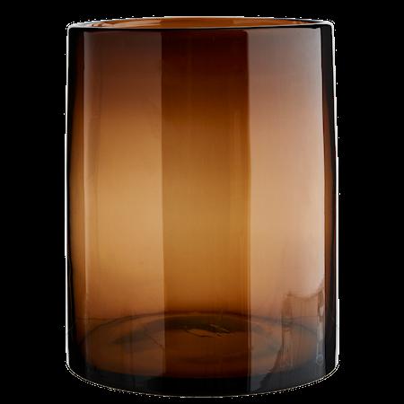 Glasvas Brun Cylinder