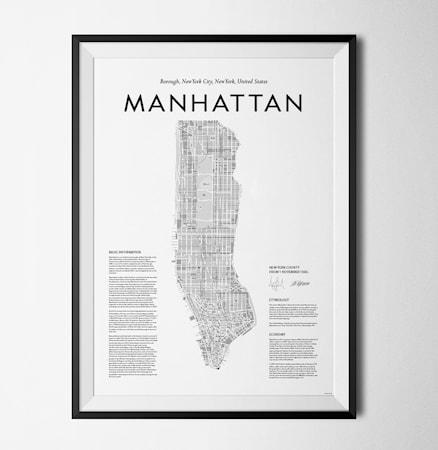 Bilde av Konstgaraget Manhattan map poster
