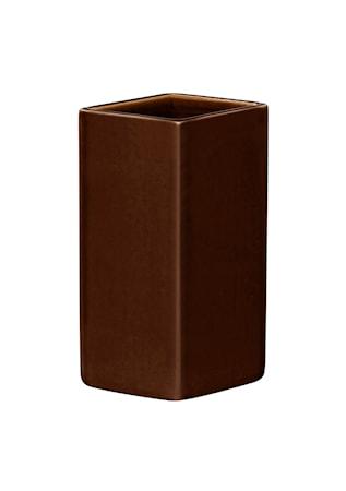 Ruutu vas keramik 180 mm brun