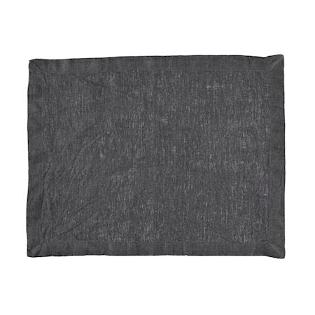 Gripsholm Bordstablett linne 2-pack - Mörkgrå