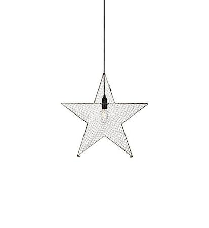 Markslöjd Julstjärna Bynäs i metall 50 cm - Grå