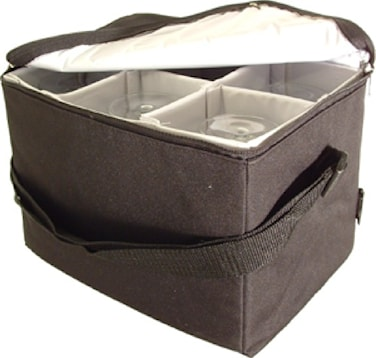 Transportväska för vinglas Svart