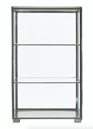 House Doctor Kabinett 56,6x35x35 cm - Glas/stål