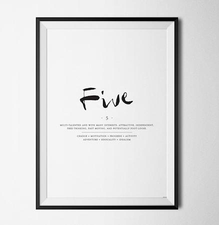 Bilde av Konstgaraget Positive number five poster