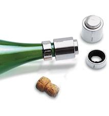 Stopper och droppring till champagneflaska