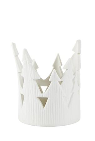 Värmeljushållare Vit Porslin 7,5x9,5 cm