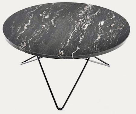 Big O table matbord - Black Marquina/black steel OX DENMARQ
