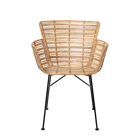 Coast Lounge Chair, Nature, Rattan