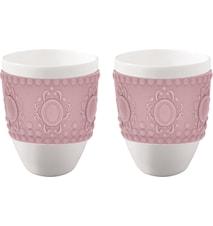 Koppar med rosa silikonskydd, 2 st