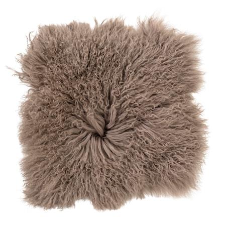 Bloomingville Istuintyyny LjusRuskea mongolialaista lampaannahkaa 40x40 cm