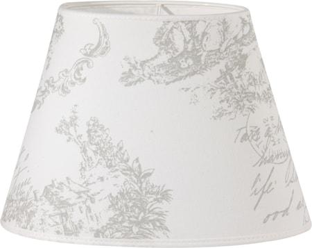 Bilde av PR Home Oval Lampeskjerm Toile Hvit 25 cm