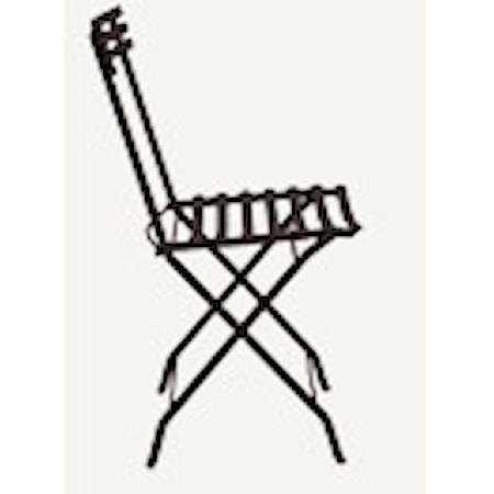 Ethimo Flower folding stol - Svart