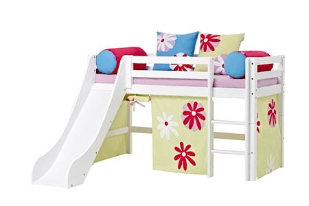 Hoppekids Basic slide loftsäng – Butterfly sängpaket
