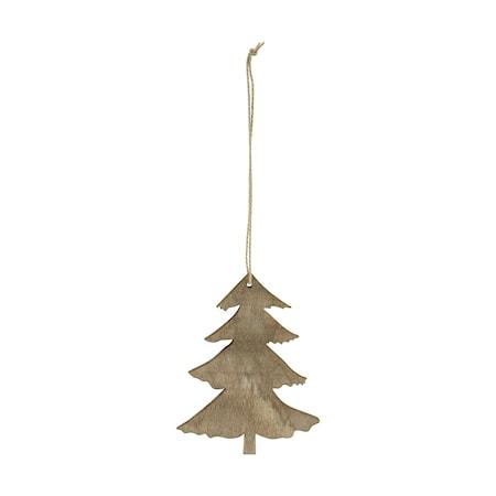 Ornament Pine 8 cm Trä