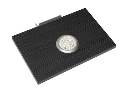 Hiipakka Black hyllplan med LED-belysning – Svart 2-set