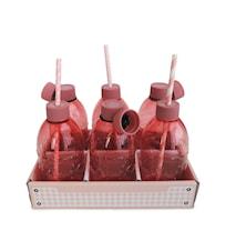 Flaska med kork Rosa Akryl