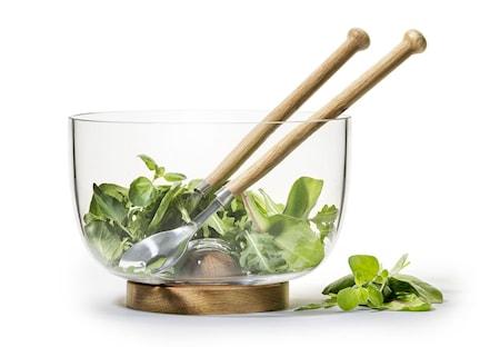 Sagaform Oak skål och salladsbestick