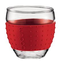 Pavina Glas med Silikon 10 cl 2 st Röd