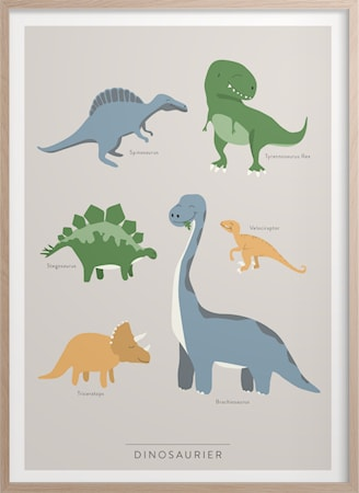 Dinosaurier Poster 30x40 cm