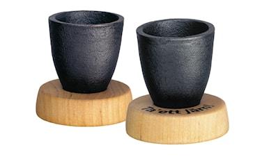 Snapsbägare med träplatta. 2-pack